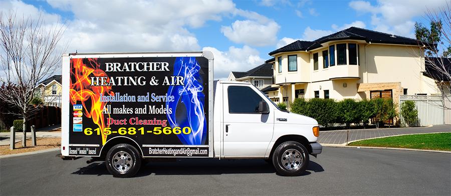 Bratcher Heating & Air Truck